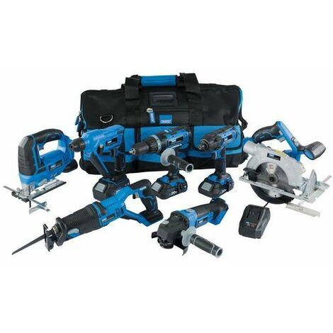 Draper 07025 Storm Force® 20V 7 Machine Cordless Kit (12 Piece)