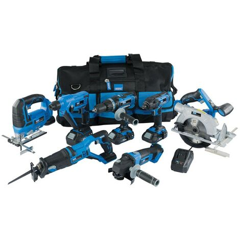 Draper 07025 Storm Force 20V Cordless Kit 12pcs