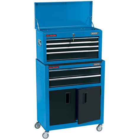 """Draper 19563 24"""" Combined Roller Cabinet and Tool Chest (6 Drawers)"""