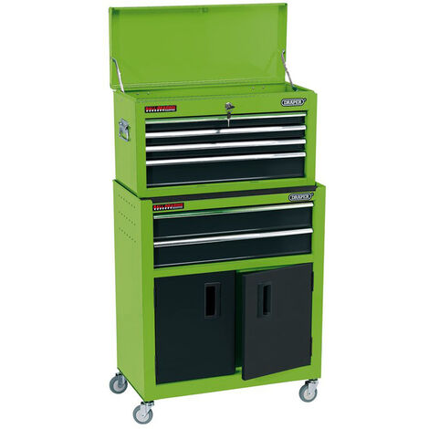 """Draper 19566 24"""" Combined Roller Cabinet and Tool Chest (6 Drawer)"""