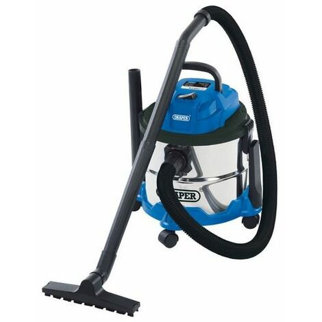 Draper 20514 15L Wet and Dry Vacuum Cleaner with Stainless Steel Tank (1250W)