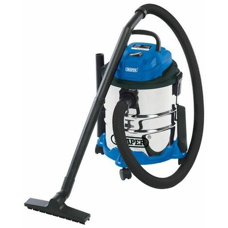 Draper 20515 20L Wet and Dry Vacuum Cleaner with Stainless Steel Tank (1250W)