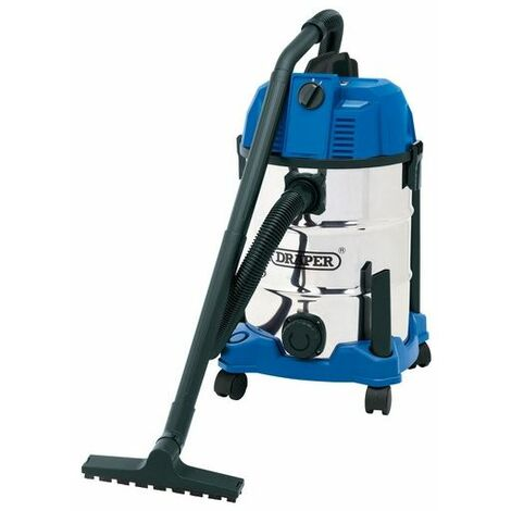 Draper 20523 30L Wet and Dry Vacuum Cleaner with Stainless Steel Tank (1600W)
