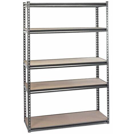 DRAPER 21663 - Heavy Duty Steel Shelving Unit - Five Shelves (L1220 x W450 x H1830mm)