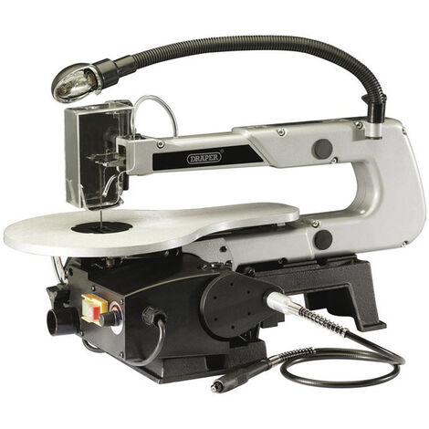 Draper 22791 405mm Variable Speed Scroll Saw with Flexible Drive Shaft and Worklight (90W)