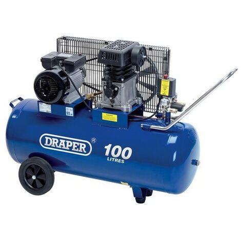 Draper 31254 100L 230V 2.2kW (3hp) Belt-Driven Air Compressor