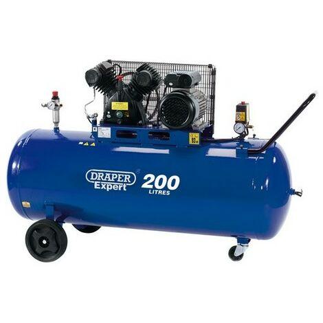 Draper 34383 200L 230V 2.2kW (3hp) V-Twin Belt-Driven Air Compressor