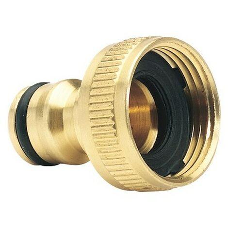 """Draper 36198 Expert Brass 3/4"""" BSP Garden Hose Tap Connector"""