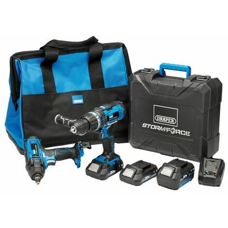 Draper 40451 Storm Force® 20V Cordless Workshop Kit (7 Piece)
