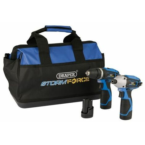 Draper 52046 10.8V Dr/Dr.TW/Pack +3 Batteries and Bag - Draper Storm Force® Interchange Super Deal