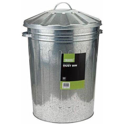 Draper 53254 Galvanised Dust Bin (85L)