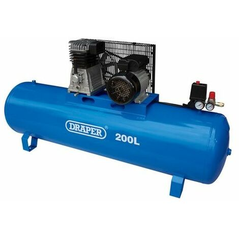 "main image of ""Draper 55313 200L Stationary Belt-Driven Air Compressor (2.2kW)"""