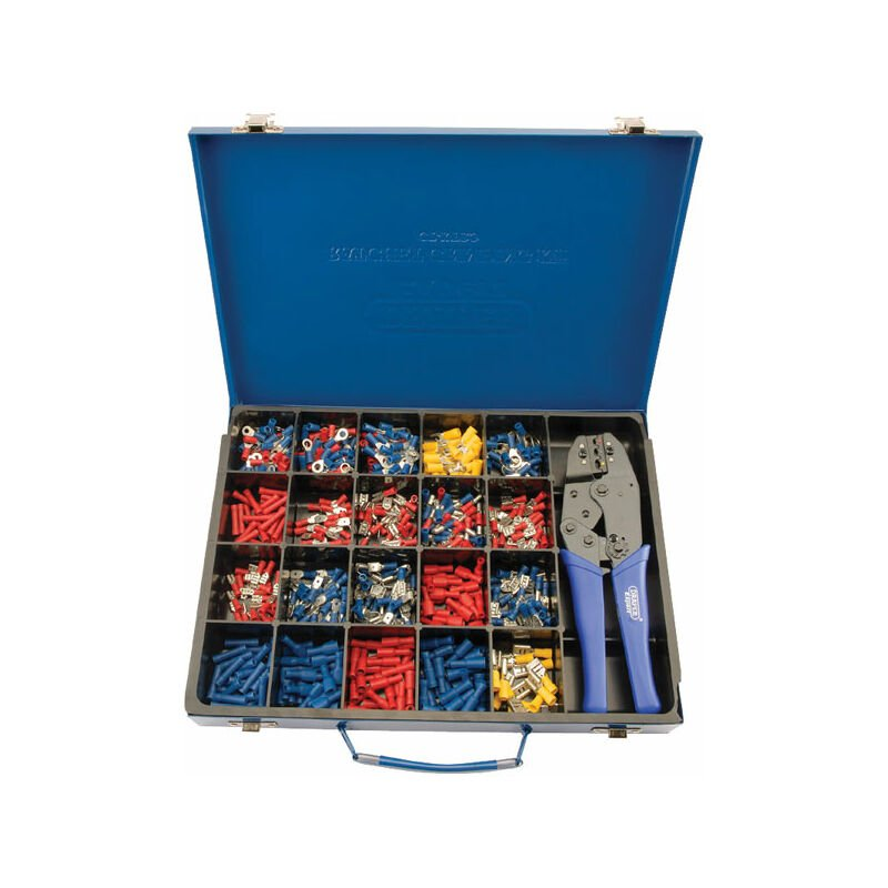 Image of 56383 Ratchet Crimping Tool and Terminal Kit - Draper Expert