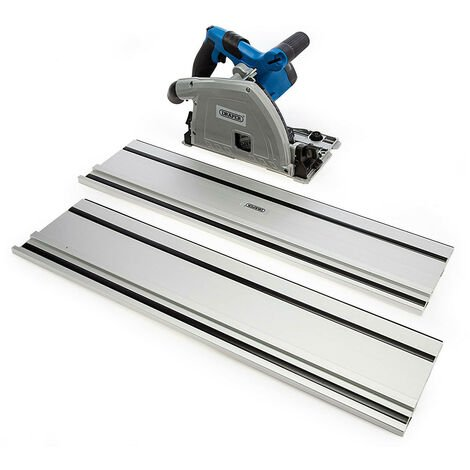"""main image of """"Draper 57341 Corded 165mm Plunge Saw with Rail 1200W 230V"""""""