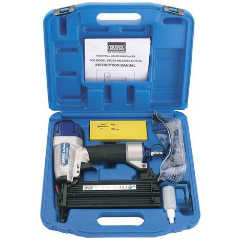 Draper 57563 AN15-50 Air Nailer Kit 15-50mm