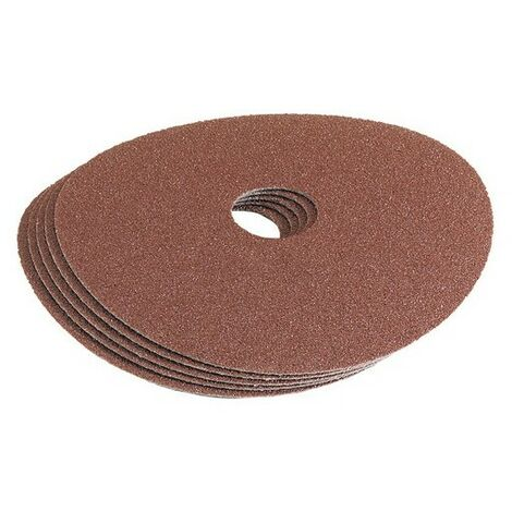 Draper 58610 115mm 36Grit Aluminium Oxide Sanding Disc Pack of 5