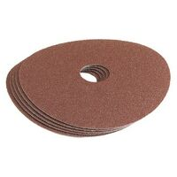 Draper 58617 115mm 60grit aluminium oxide sanding disc pack of 5