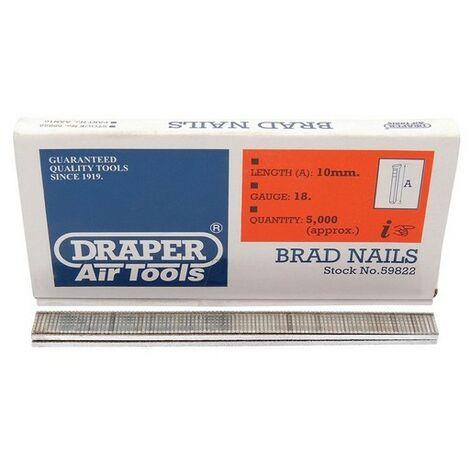 Draper 59822 10mm Brad Nails (5000)
