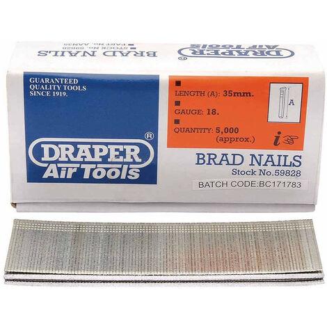 Draper 59828 35mm Brad Nails (5000)