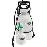 DRAPER 6.25L pressure sprayer with 900ml mini sprayer set PUMP weed killer