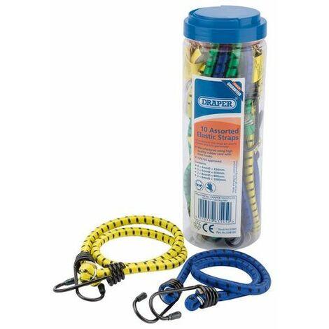 Draper 63545 10 Assorted Elastic Straps