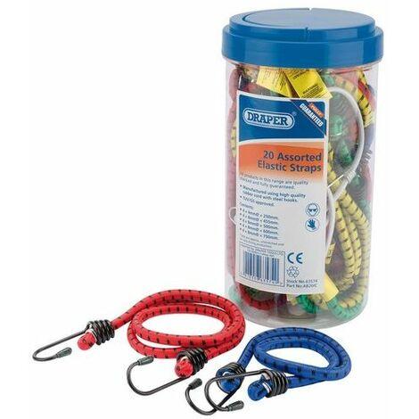 Draper 63574 20 Assorted Elastic Straps