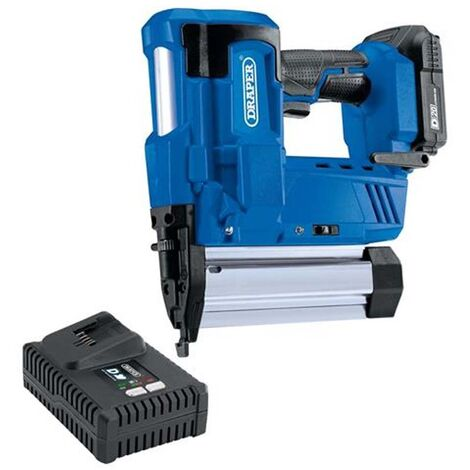 Draper 646 D20 20V Nailer/Stapler with 1x 2.0Ah Battery and Charger