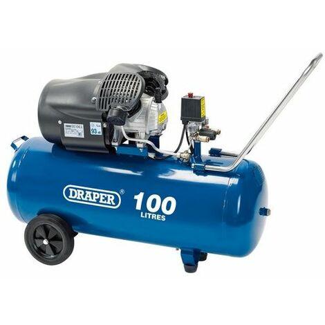 Draper 65396 100L V-Twin Air Compressor (2.2kW)