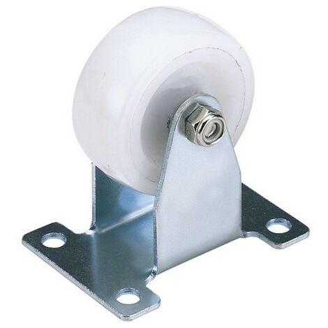 Draper 65507 100mm Dia. Fixed Plate Fixing Nylon Wheel - S.W.L. 125Kg
