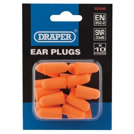 Draper 82448 Ear Plugs (Pack of 10 Pairs)