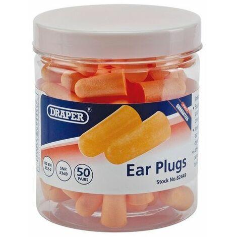 Draper 82449 Ear Plugs (Jar of 50 Pairs)