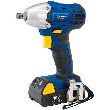"Draper 83689 18V 1/2"" Cordless Impact Wrench 1x 1.5Ah Battery"