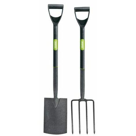 Draper 83971 Carbon Steel Garden Fork and Spade Set