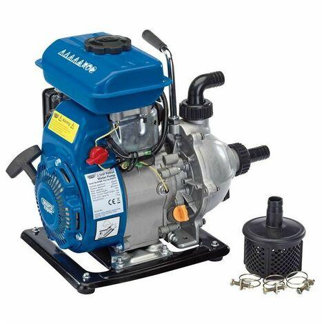 """Draper 87680 4 Stroke Petrol Water Pump Pond Flood Pump 1"""" 85L/Min & Fittings"""