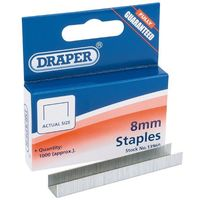 Draper 8mm Steel JT21 Staples (1000) 13960