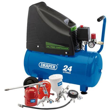 Draper 90126 Oil Free Compressor and Air Tool Kit 230V