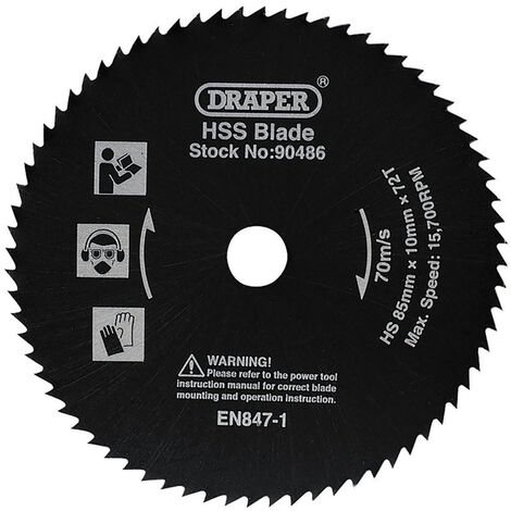 Draper 90486 HSS Saw Blade (85mm)