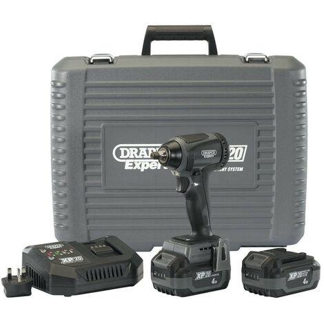 "Draper 98963 XP20 20V Brushless 3/8"" Impact Wrench 2x 4Ah Batteries (250Nm)"