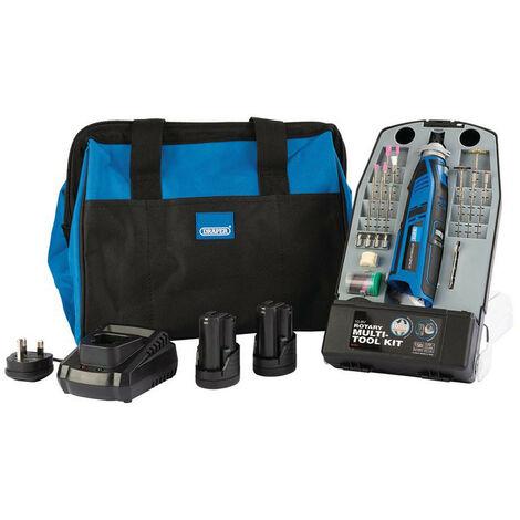 Draper 99719 Storm Force 10.8V Power Interchange Multi-Tool Kit (+2x 1.5Ah Batteries, Charger and Bag)