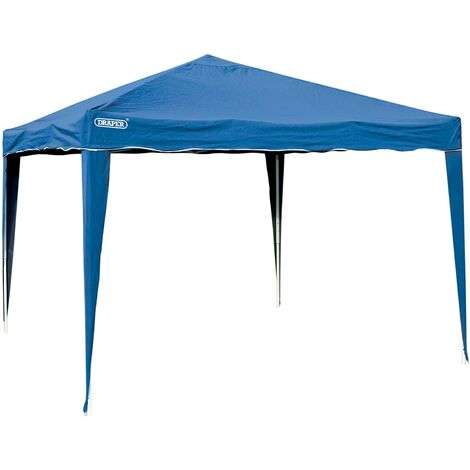 Draper Blue 3m x 3m Concertina Gazebo Garden Party Shelter Canopy Roof