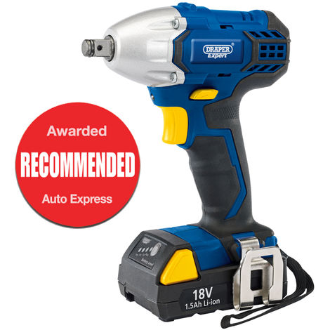 """Draper EXPERT 18V CORDLESS 1/2"""" SQ. DR. IMPACT WRENCH WITH LI-ION BATTERY 83689"""