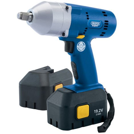 """Draper EXPERT 19.2V CORDLESS 1/2"""" SQ. DR. IMPACT WRENCH WITH TWO NI-MH BATTERIES"""