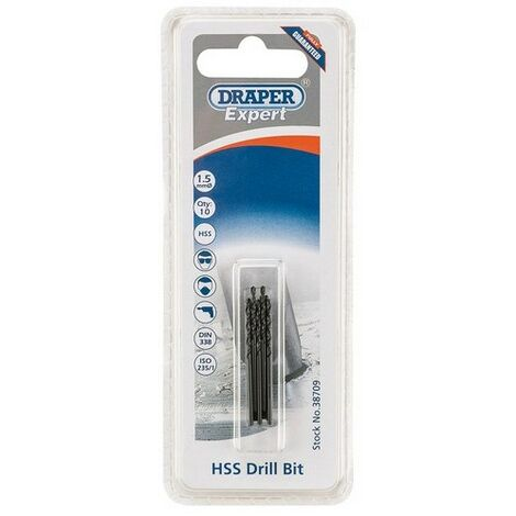 Draper Expert HSS Drills Card Of 10 / 0.5 - 13 mm
