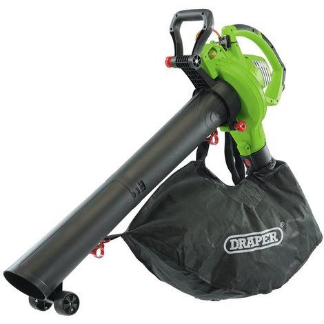 Draper Garden Vacuum Blower Mulcher 3200W Variable Speed Leaf Safety 93165