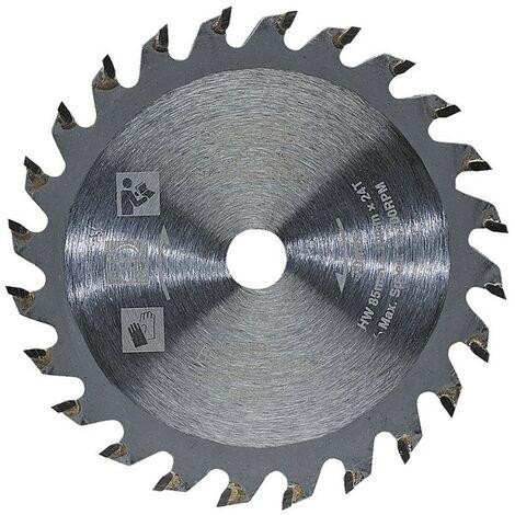 Draper HSS 85mm Mini Circular Saw Blade 1.8mm Kerf 18T 10mm Bore Wood Cut 90485