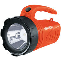 Draper Orange 3W LED Rechargeable Spotlight Torch camping garage home 66013