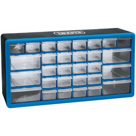 Draper Tools 30-Drawer Tool Organiser Blue 12015