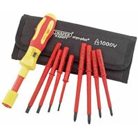 Draper Tools 9 Pz Set Cacciavite Elettrico Expert VDE 65372