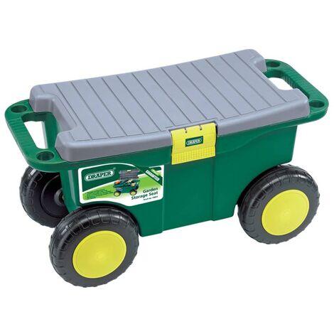 Draper Tools Chariot à outils et siège de jardin 56x27,2x30,4 cm 60852