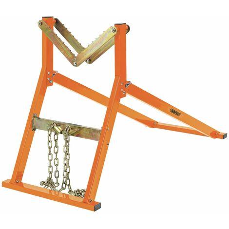 Draper Tools Chevalet à bûches robuste 300 kg Orange